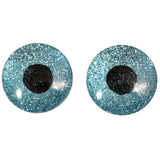 Blue Glitter Sparkling Glass Eyes