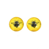 Bright Yellow Honey Bee Eye Cabochons