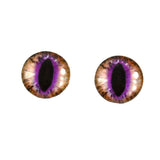 Brown and Fuchsia Cat Glass Eyes