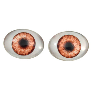 Brown Doll Oval Glass Eye