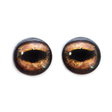 Brown Toad Frog Glass Eyes