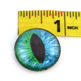 Cheshire Cat Glass Eye in Blue and Green