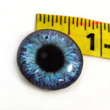 25mm Purple and Teal Clockface Steampunk Glass Eye