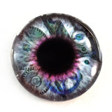 Clockwork Steampunk Glass Eye in Purple and Blue