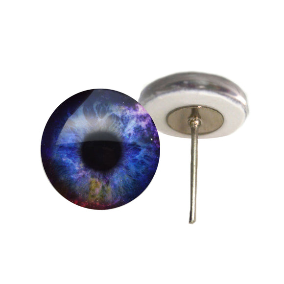 Colorful Galaxy Glass Eyes on Wire Pin Posts