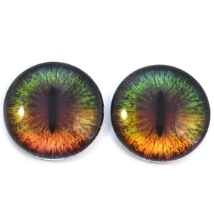 30mm Color Changing Fantasy Creature Animated Glass Eyes