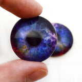 Colorful Galaxy Glass eyes