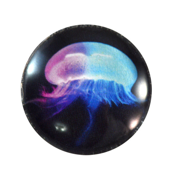 Pastel Jellyfish Glass Cabochon