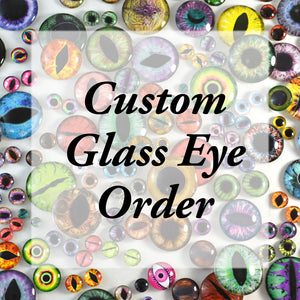 RESERVED: Custom Order 2 Pairs of Aqua Glow in the Dark Eyes