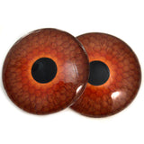Deep Amber Honeycomb Glass Eyes