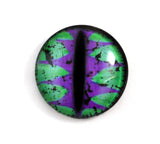 Green and Purple Fantasy Dragon Glass Eye