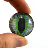 25mm Green and Peach Dragon Glass Eye