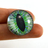 Green and Peach Dragon Glass Eye