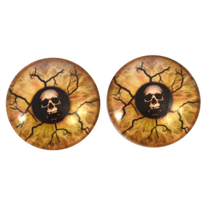 Eyes of Death Skull Glass Eyes