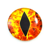 Fiery Flames Dragon Glass Eye