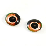 Green and Orange Fish Glass Eyes