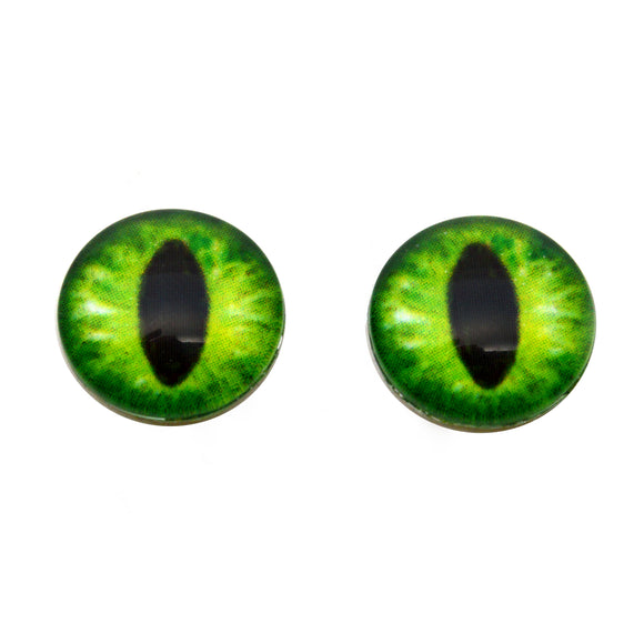 16mm Glow in the Dark Green Dragon Glass Eyes