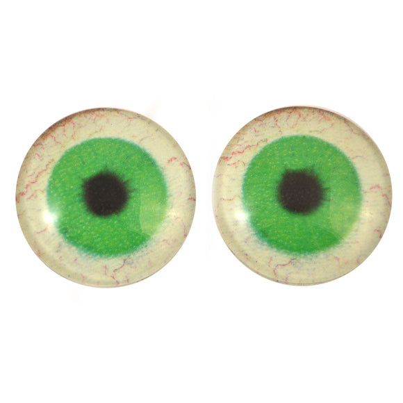 30mm Glow in the Dark Green Ghost Glass Eyes