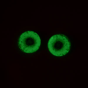 glow in the dark zombie eyes