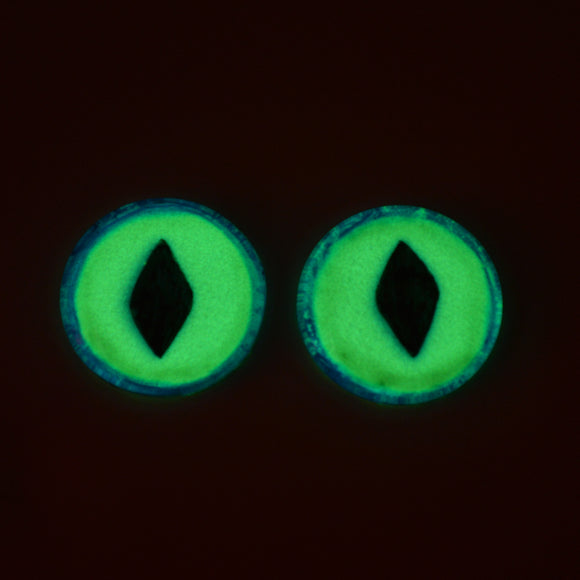 Glow in the Dark Dragon Eyes in Blue and Yellow