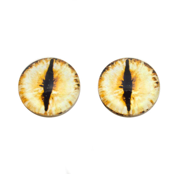 Glowing Yellow Dragon Glass Eyes