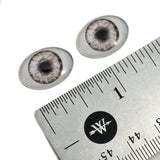 18mm x 25mm Gray Doll Oval Glass Eyes
