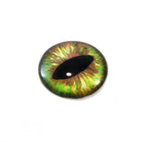 Green and Brown Dragon or Cat Glass Eye