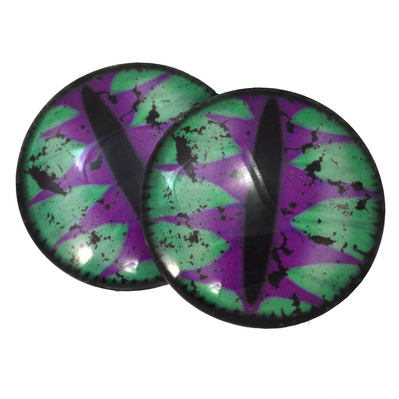 Green and Purple Fantasy Dragon Glass Eyes