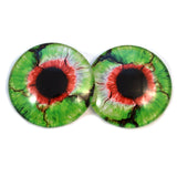 Green and Red Zombie Glass Eyes