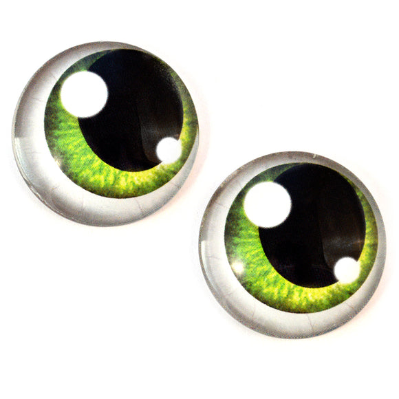Green Anime Glass Doll Eyes