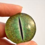 Green Dinosaur Glass Eye