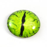 Lime Green Dragon Glass Eye
