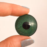 Green Glitter Sparkling Glass Eye