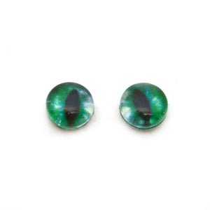 8mm Glow in the Dark Green Cat Glass Eyes