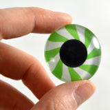 Green Mint Candy Glass Eye