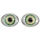 Green Oval Doll Glass Eyes