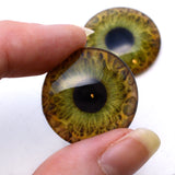 25mm Hazel Human Glass Eyes
