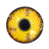 Honeycomb Bees Glass Eye