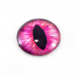 Hot Pink Dragon or Cat Glass Eye