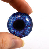violet blue glass eye