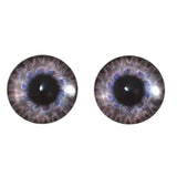 Steampunk Gear Glass Eyes in Light Blue and Purple