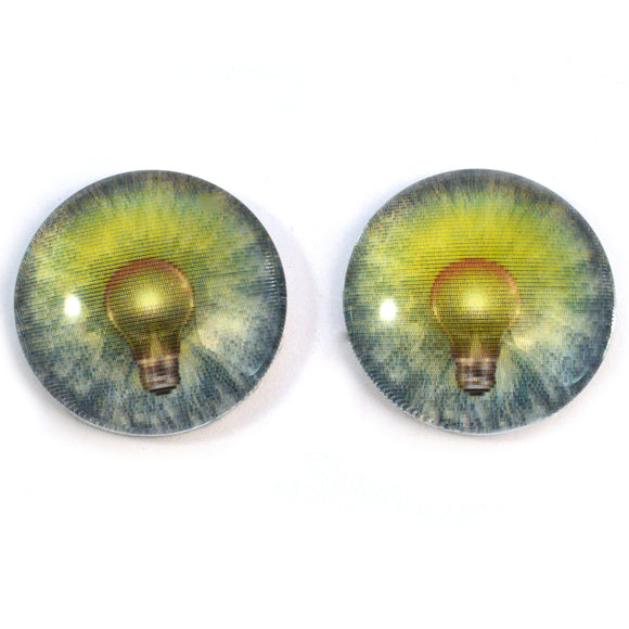 Light Bulb Animated Glass Eye Cabochons