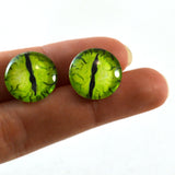 16mm Lime Green Dragon Glass Eyes
