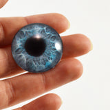 25mm Mint Blue Mermaid Glass Eye