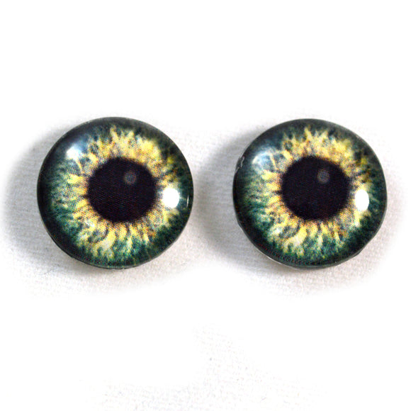 Olive Green Human Glass Eyes