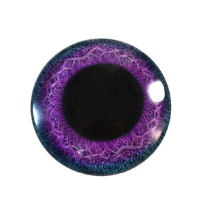Purple and Blue Celtic Weave Glass Eye