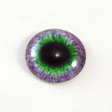 Purple and Green Round Fantasy Glass Eye