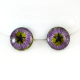 Purple and Green Star Fantasy Glass Eyes