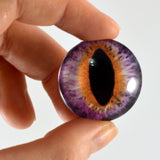 30mm Purple and Orange Cat or Dragon Glass Eyes