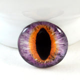 Purple and Orange Cat or Dragon Glass Eye